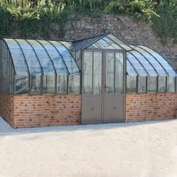 Gewächshaus Mirabeau mit Mauersockel